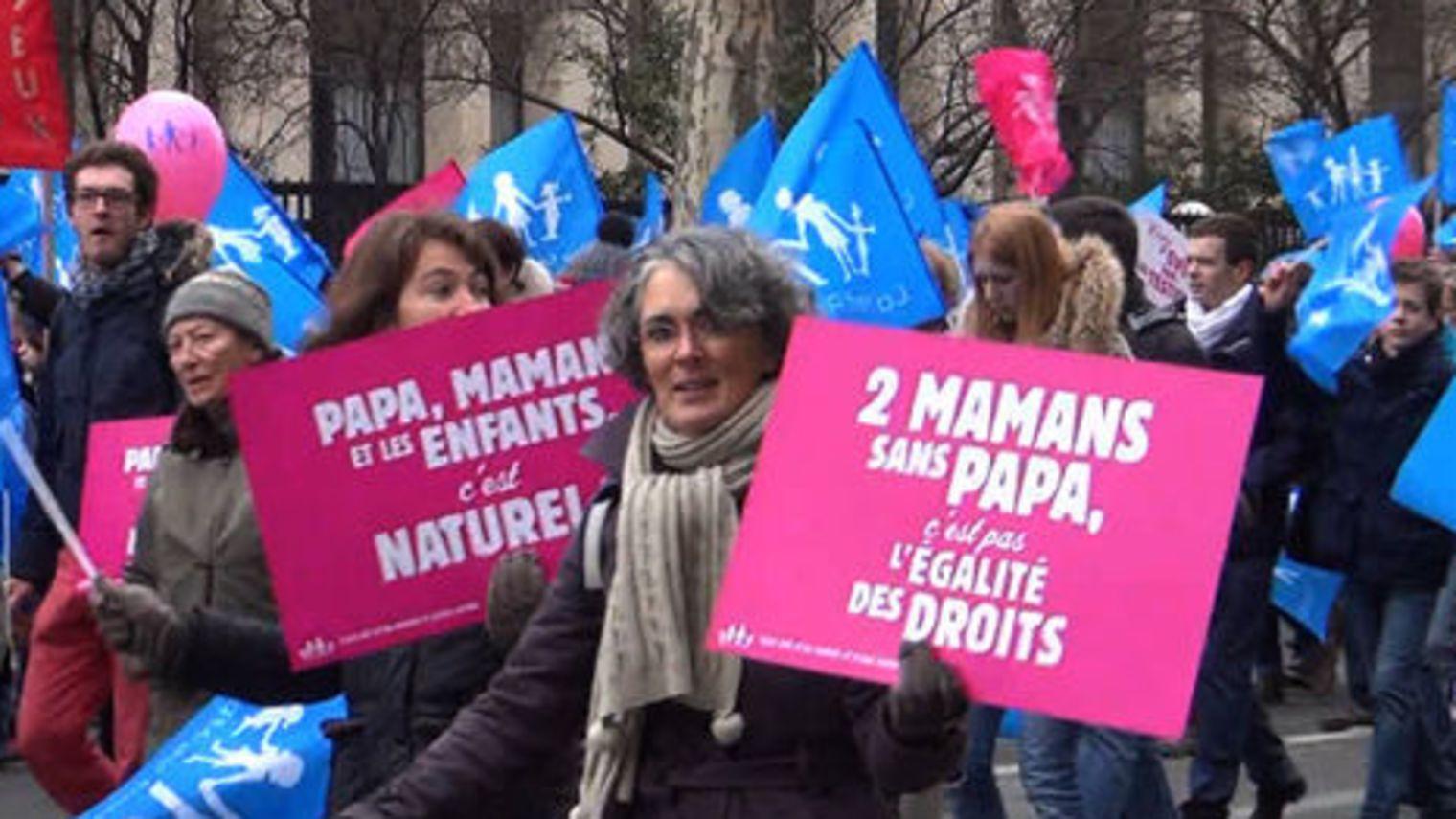 Manifestation anti mariage pour tous, Paris.